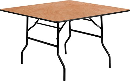 48' Wood Top Table (Flash Furniture 48'' Square Wood Folding Banquet Table)