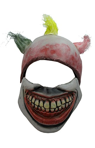 [Twisty the Clown Mask America Horror Story Movie Props] (Twisty The Clown Costume Mask)