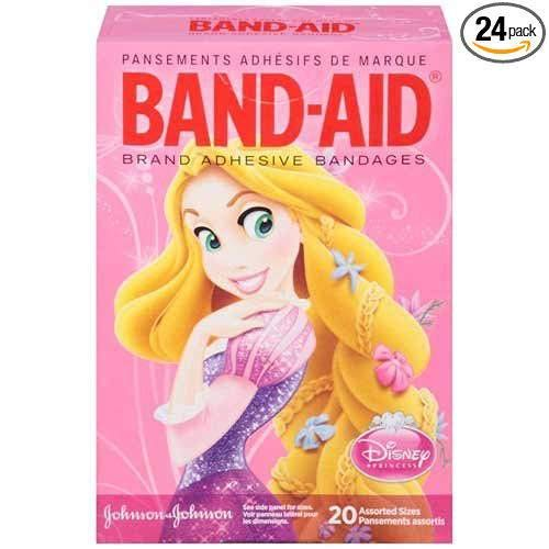 Band-Aid Disney Princess Assorted Size Adhesive Bandages 20 ct Box -- 24 per case. -