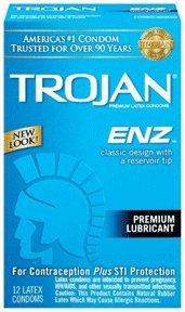 Trojan-enz Lubricated Latex Condoms 12 Ea (Pack of 4)