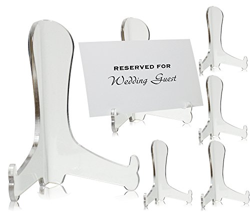 Amazon.com Clear Acrylic Fixed Position Easels - Set of 6 - 3 Inch Easels - Picture Display Stands - Plate Stands - Book Stands u2013 Easel Home u0026 Kitchen  sc 1 st  Amazon.com & Amazon.com: Clear Acrylic Fixed Position Easels - Set of 6 - 3 Inch ...