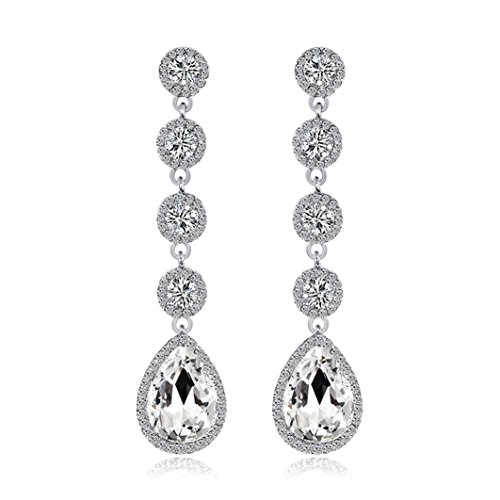Beuu New Jewelry Earrings Fashion Zircon earrings Diamond-encrusted love heart earring for girls (College Costume Ideas 2016)