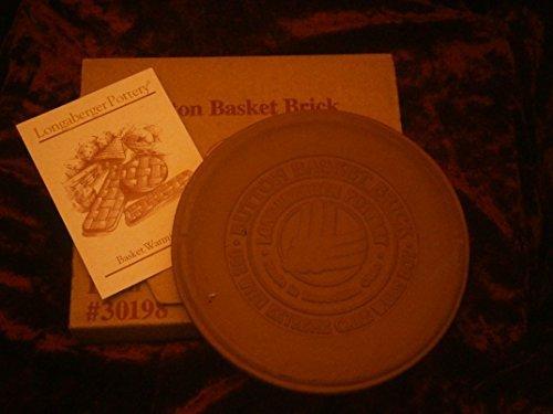 Longaberger Pottery Button Basket Round Warming Brick by Longaberger