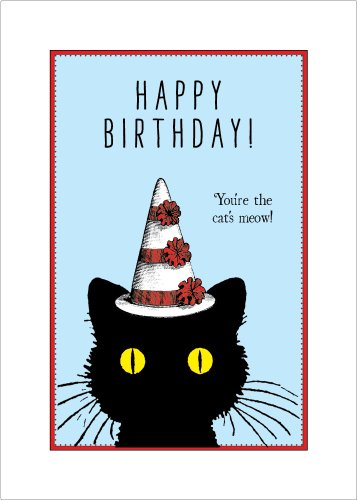 Lucca Paperworks Cat's Meow Birthday Card, 5 X 7 (1)
