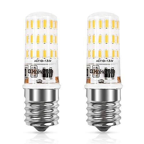 Microwave Oven Light 4W Equivalent,E17 LED Bulb Warm White 3000K,Intermediate Base 43X4014SMD AC110-130V (Pack of 2) ()