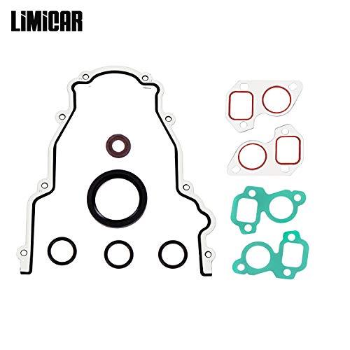 LIMICAR Timing Cover Set Water Pump Gaskets Crankshaft Seal TCS45993 Compatible with GM LS LS1 LS6 LS2 LS3 LQ9 LQ4 4.8 5.3 5.7 6.0