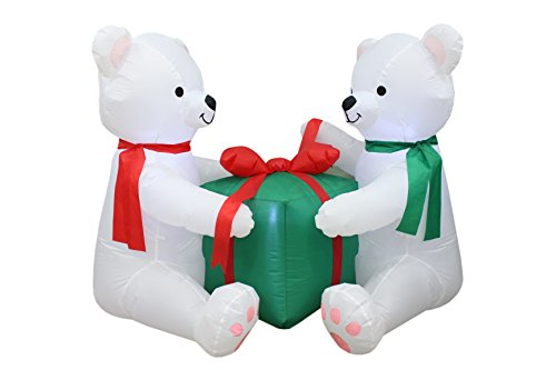 Outdoor Lighted Polar Bear Decorations - 4