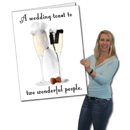 VictoryStore Jumbo Greeting Cards: Giant Wedding Card (Wedding Toast),  2' x 3' Card with Envelope ()