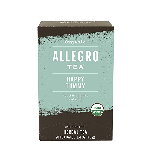 Allegro Tea, Organic Happy Tummy Tea Bags, 20 ct (Tummy Mint Tea)