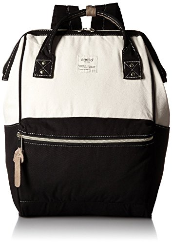 Anello Large Leather Backpack (Navy Blue) - 3