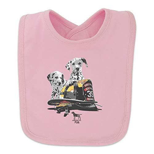 Pink Fire Helmets (Dalmatian Dogs Firefighter Fire Helmet Baby Bib -)