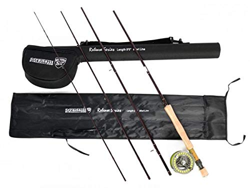 Stradalli Fly Fishing Rod Combo 100% Carbon, 8Wt 9' 4pc, Release Fast Action Fly Rod and Billet Reel Combo...