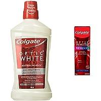 Colgate Optic White Mouthwash, Alcohol Free Icy Fresh Mint, 946 mL + Colgate Optic White Renewal High Impact White Teeth…