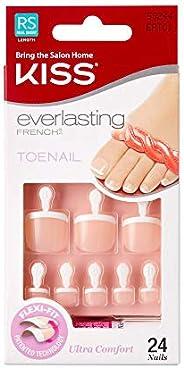 Kiss Products Everlasting French Kit de uñas de los pies sin límites, 0.07 libras