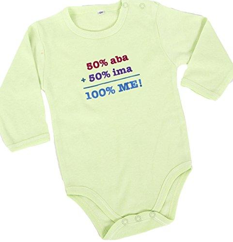 Barbara Shaw Gifts '50% Aba+50% Ima=100% Me' Baby Bodysuit (0-3 Months) ()