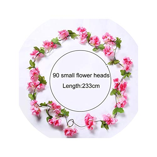Dream-catching 233cm Artificial Cherry Blossoms Flower Vines Party