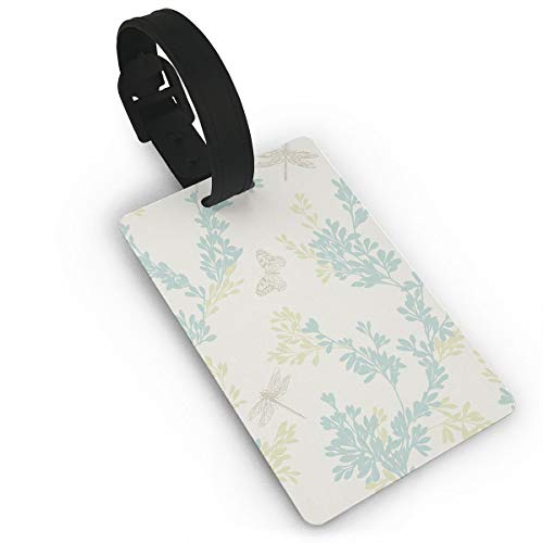 Diemeouk Luggage Tags Suitcases Dragonfly Butterfly Yellow PVC