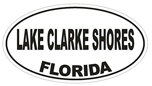 Yohoba Lake Clarke Shores Florida Oval Bumper Sticker Or Helmet Sticker
