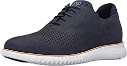 Cole Haan Men's 2.0 Grand Laser Wing Oxford Marine Blue Nubuck/Optic White Oxford 8 D (M)