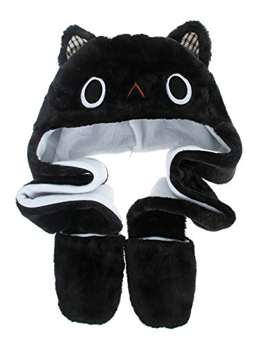 La Vogue Winter Plush Hat Novelty Cartoon Beanie Cap With Long Paws (The Cat In The Hat Costume Pattern)