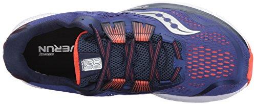 Saucony Mens Zealot ISO 3 Running Shoe Blue Orange