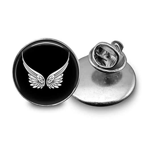 Angel Wings Tie Tack Handmade Stainless Steel 18mm ()