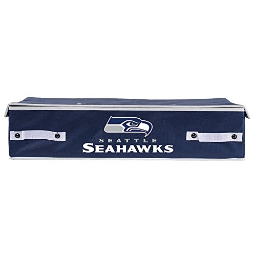 Franklin Sports NFL Seattle Seahawks Under The Bed Storage Bins - Large