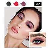 Zlolia Professional Glitter Shimmer Matte Eye Eyeshadow Pads-3 Colors Pigmented New Nude Eyeshadow Eye Makeup-Enough Shimmer for Everyday Wear