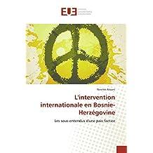 L'intervention internationale en Bosnie-Herzégovine: Les sous-entendus d'une paix factice