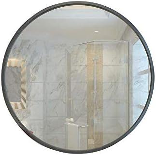 バスルームの鏡バスルームの壁は錬鉄フレームのラウンドミラーをマウントゴールドとブラック、複数のサイズがあります