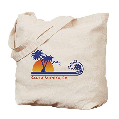 CafePress - Santa Monica - Natural Canvas Tote Bag, Cloth Shopping - Monica Ca Shopping Santa