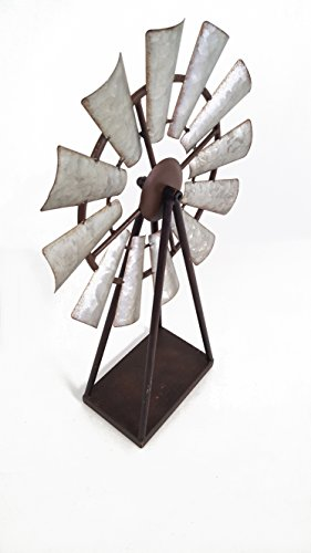 Large Standing and Spinning Windmill Metal Decor by Everydecor (Image #1)'