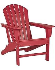 Signature Design by Ashley - Sundown Treasure Outdoor Adirondack Chair - Hard Plastic - Red