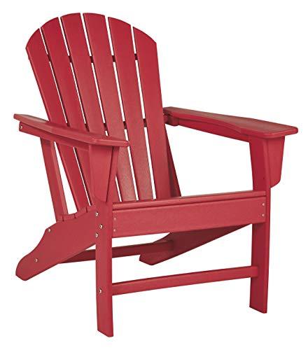 Ashley Furniture Signature Design - Sundown Treasure Outdoor Adirondack Chair - Hard Plastic - Red (Weather Adirondacks)