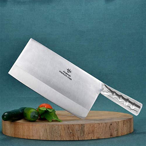 A & Y Traders Very Heavy Duty Stainless Steel Chef's Chopper/Knife/Meat Cleaver 7''/3.5' (2 Pieces)