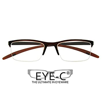 c6cc3f5b2ace EYE-C Reading Glasses Parliament Brown Includes Storage Pouch (Optical  2.0)  Amazon.co.uk  Health   Personal Care