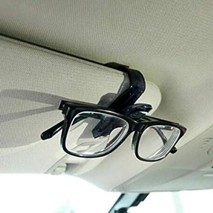 Black Chinatera 2Pcs Multifunctional Adhesive Car Auto Glasses Sunglasses Ticket Business Card Receipt Holder Clip