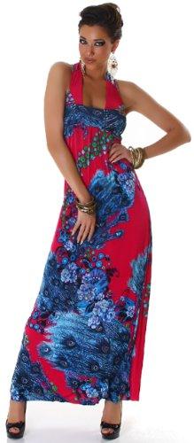 GRAFFITH de la mujer cuello halter floral sleevelessdress Rosa