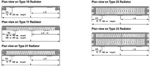 Stelrad Compact Gloss White K2 Type 22 Double Panel Convector Radiators 450mm x 1200mm 7095 BTU's - 10 Year Guarantee