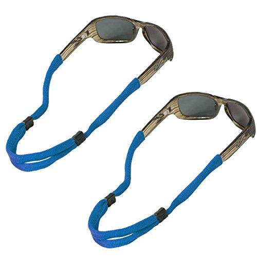 Chums No Tail Adjustable Cotton Eyeglass and Sunglass Retainer / Strap, Royal Blue (2 Pack)