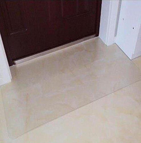 flooring wood floor protector waterproof non-slip floor chair mat-A 100x180cm(39x71inch) (Transparent Flooring)