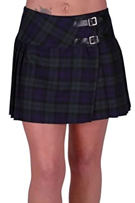 Kyla Ladies Tartan Buckle Womens Billie Kilt Mini Skirt