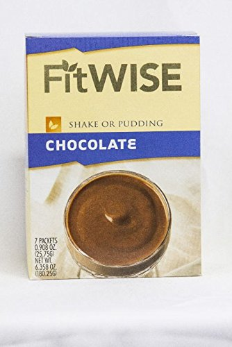 Healthwise - Chocolate Pudding/Shake Mix - 15 Grams of Protein, 90 Calories 1 Gram of Fat, Hunger Suppressant, Appetite Control for Weight Loss - 7 Packets 0.91 OZ NET WT - Pudding Shake Mix