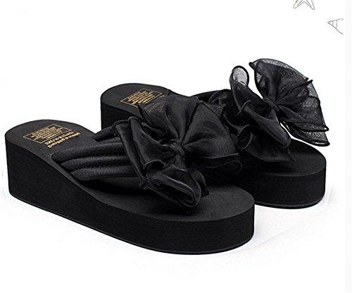 pengweiLas sandalias del verano de las se?oras los pies antideslizantes del clip refrescan los zapatos de la playa del tal¨®n de la cuesta de los deslizadores 2
