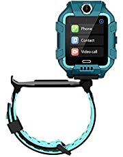 Smart klocka för barn, smart klocka vattentät 4G WiFi GPS aktivitetsmätare SOS akut videochatt smartklockor stegräknare kompatibel med iOS 9.0 Android 5.0-telefoner