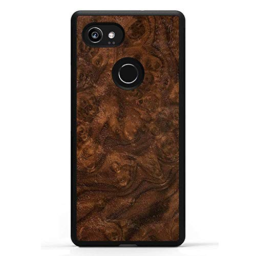 Carved | Google Pixel 2 XL | Luxury Protective Traveler Case | Unique Real Wooden Phone Cover | Rubber Bumper | Walnut Burl