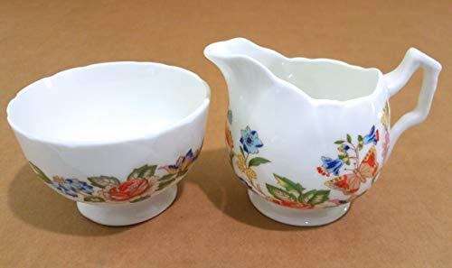 Aynsley Cottage Garden Mini Creamer & Open Sugar Bowl