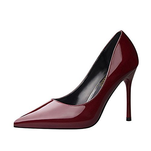 Alto de Tacón 2018 desnudo Superficial ZHANGYUSEN Zapatos Zapatos Superfina Nueva y Boda Señaló de Color Tacón Zapatos de Boda Alto XwqqfYI