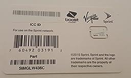 Sprint UICC ICC Nano SIM Card SIMGLW436C - iPhone 5c, 5s, 6, 6 Plus, iPad Air, iPad Air 2