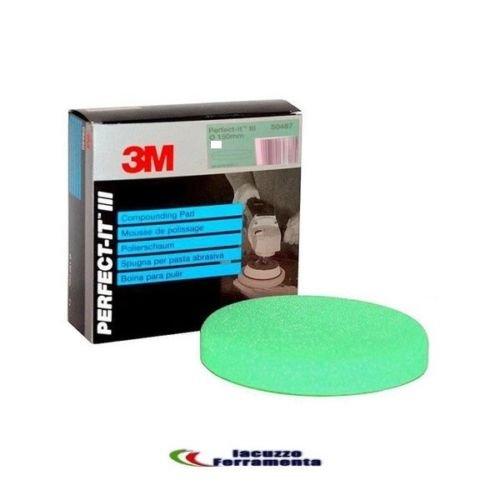 M3 3M TAMPONE Spugna per LUCIDATURA Verde 3M 50487 per Pasta ABRASIVA D.150